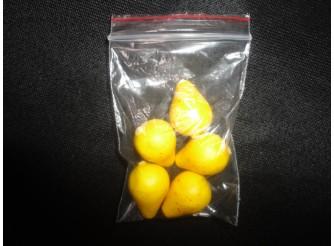 """Декор """"Мини - груша"""" 2,5 см/желтая (набор 5шт)"""
