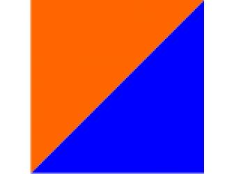 оранжевый/синий
