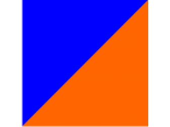 синий/оранжевый