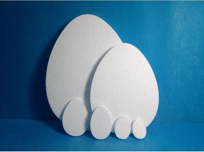 Яйцо из пенопласта - плоская заготовка (набор 5шт)