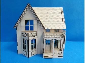 """Кукольный домик """"Три балкона"""" раскраска/фанера (1шт)"""