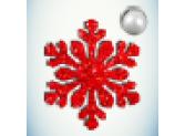 Снежинка красная/бусинка белая