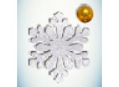 Снежинка белая/бусинка золото