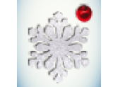 Снежинка белая/бусинка красная
