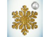 Снежинка золото/бусинка белая
