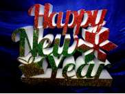 "Буквы из пенопласта ""Happy New Year""/ h30 см (1комплект)"