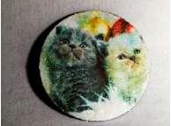 """Диск с картинкой """"Котята""""/пенопласт/принт (1шт) Выбор диаметра"""