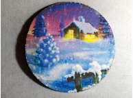 """Диск с картинкой """"Зимний вечер""""/пенопласт/принт (1шт) Выбор диаметра"""