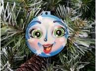"""Подвеска """"Новогоднее настроение"""" 6,5*7 см/фанера/принт (набор 3шт)"""