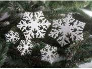 """Снежинка из фетра """"Морозный узор"""" 5см (набор 12шт)"""