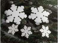 """Снежинка из фетра """"Снежный цветок"""" ассорти (набор 5шт)"""