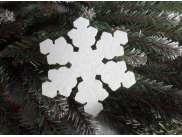 """Снежинка из фетра """"Снежный цветок"""" 5см (набор 12шт)"""