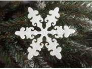 """Снежинка из фетра """"Новогодняя сказка"""" 5см (набор 12шт)"""