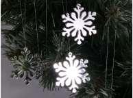 """Зеркальная снежинка """"Мороз и солнце"""" d 5 см (набор 5 шт)"""