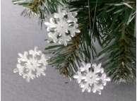 """Зеркальная снежинка """"Зимнее волшебство"""" Выбор диаметра (набор 5 шт)"""