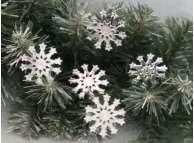 """Зеркальная снежинка """"Звездный хоровод"""" d 5см (набор 5 шт)"""
