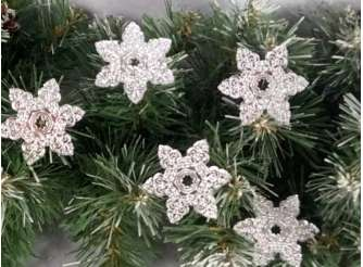 """Зеркальная снежинка """"Новогодние узоры"""" Выбор диаметра (набор 5 шт)"""