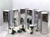 """Флористическая зеркальная ваза """"Зимние узоры"""" с основой  h25 см (1 шт)"""