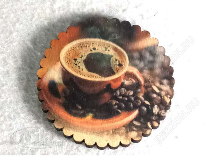 """Подставка под стакан """"Черный кофе"""" 10см (набор 6 шт)"""