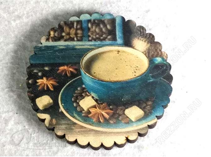 "Подставка под стакан ""Кофе с сахаром"" 10см (набор 6 шт)"