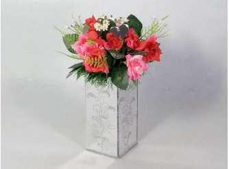 """Композиция в зеркале """"Мелкие розы"""" h20 см (1шт)"""