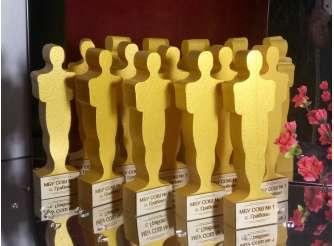 """Статуэтка """"Золотой Оскар"""" h35см; w5см/пенопласт (1шт)"""