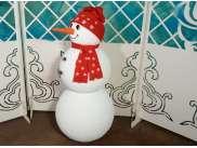 """Декор """" Снеговик с улыбкой"""" h115см (1шт)"""