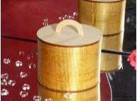 Шкатулка  круглая 18*18*19 см /фанера  (1шт)