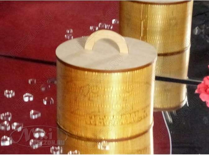 Шкатулка  круглая h 19 см / фанера  (1шт)