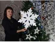 Снежинка из пенопласта Ø 35 см (1шт)