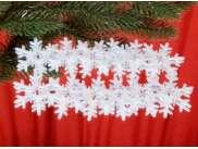 """Снежинка из фетра """"Новогодняя ночь"""" 5см (набор 12шт)"""