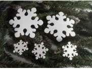 """Снежинка из фетра """"Морозко"""" 5см (набор 12шт)"""