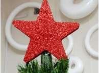 """Декор /звезда """"Верхушка на елку""""/блеск/d 25см (1шт)"""