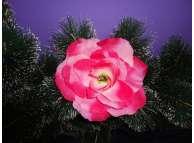 "Цветочная головка роза ""Лола"" розово-малиновая Ø11см (1шт)"