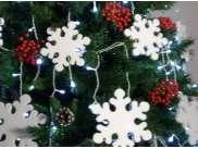 """Снежинки в наборе """"Новогодняя ночь"""" микс (70 шт)"""