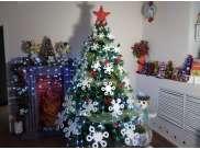 """Снежинки в наборе """"Новогоднее колесо"""" микс (набор 70 шт)"""