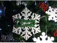 """Декор/ Снежинка """"Морозный узор - С Новым годом!"""" d20см /пенопласт (1шт)"""