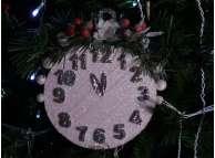 """Декор из пенопласта """"Новогодние часы"""" Ø15 см (1шт)"""