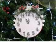 """Декор """"Новогодние часы"""" Ø15 см (1шт)"""