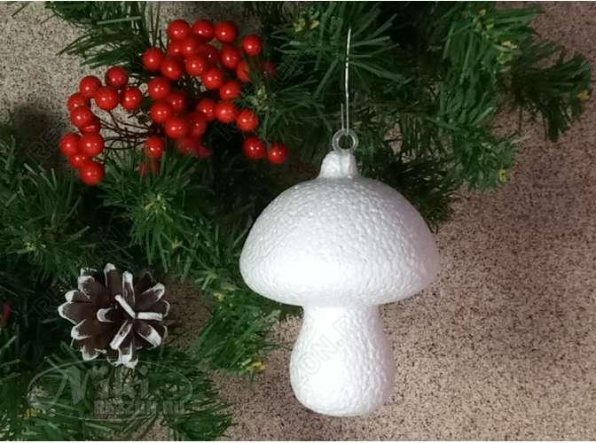 """Заготовка из пенопласта """"Белый гриб малый"""" 6*5,5см (1шт)"""