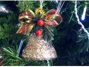 """Новогоднее украшение """"Колокольчик с декором"""" h6см (1шт)"""