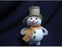 Снеговики 3D с декором