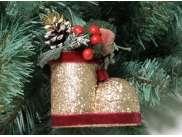 """Новогоднее украшение """"Волшебный башмачок малый"""" h12см (1шт)"""