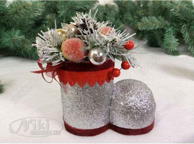 """Новогоднее украшение """"Волшебный башмачок """" h15 см (1шт)"""