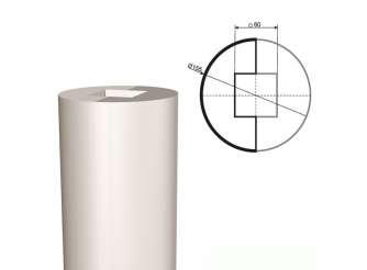 Ствол колонны из пенопласта КЛ-001 155х1000мм  (1шт)
