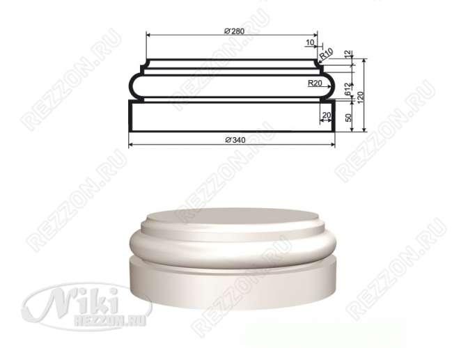 База колонны из пенопласта БКЛ-003 280х340х120мм (1шт)