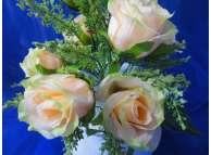 """Букет """"Розы с кашкой""""/персик h30cм, 9 гол (1шт)"""
