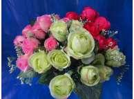"""Букет """"Роза с добавкой""""евро /розовый h30cм;10 гол (1шт)"""