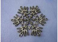 """Снежинка/дерево """"Зимнее великолепие"""" d12см (набор 5шт)"""