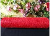 Сизалевое полотно, цвет красный (1м)